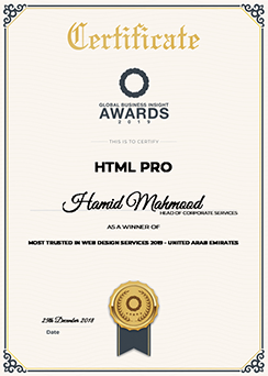 Global Business Insights Award for Top Web Design Services
